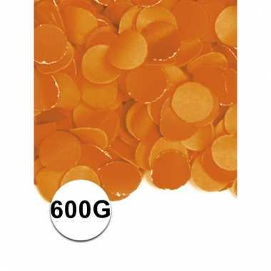 Brandvertragende confetti oranje 600 gram
