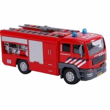 Brandweerauto met geluid 16 cm