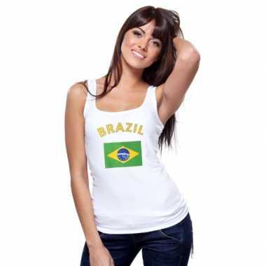 Brasiliaanse vlag tanktop / singlet voor dames