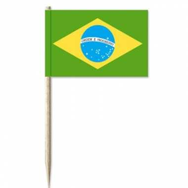 Brazilaanse cocktailprikkers 50 st