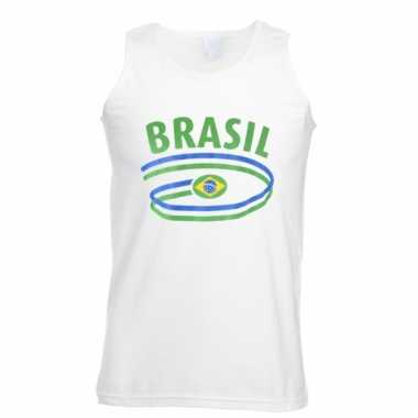 Braziliaanse vlaggen tanktop voor heren