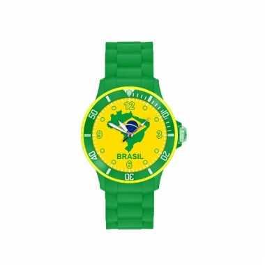 Brazilie supporters horloge