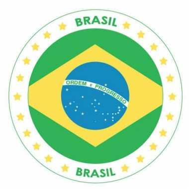 Brazilie vlag print bierviltjes