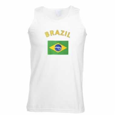 Brazilie vlaggen tanktop/ t-shirt