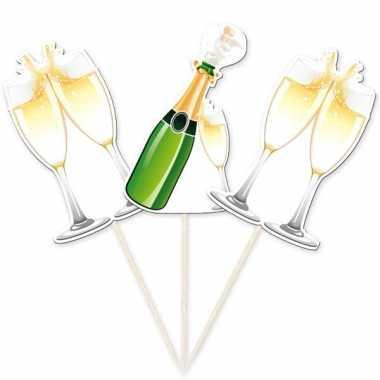 Bruiloft cocktailprikkers champagne