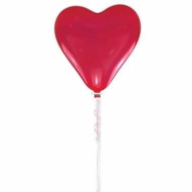 Bruiloft hart ballon rood 70 cm