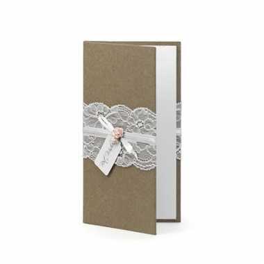 Bruiloft notitieboek bruin