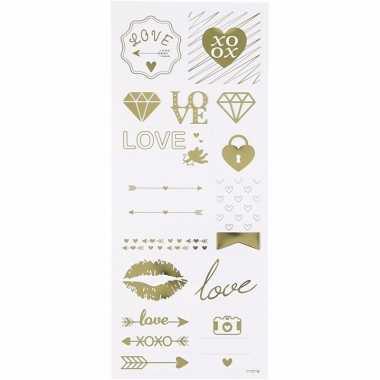 Bruiloft stickers 14 stuks
