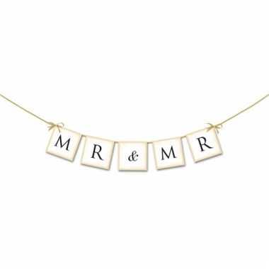 Bruiloft versiering mini slinger mr & mr