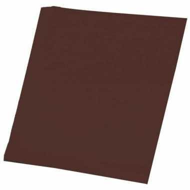 Bruin knutsel papier 50 vellen a4