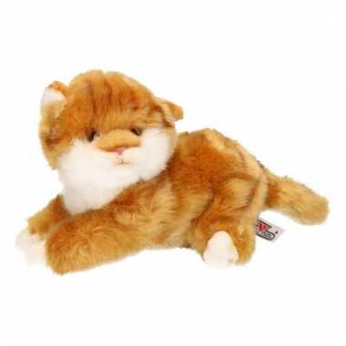 Bruin poesje/katje/kitten knuffeldier 27 cm