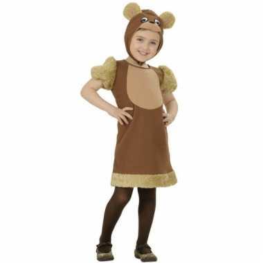 Bruine beren kostuum voor meisjes