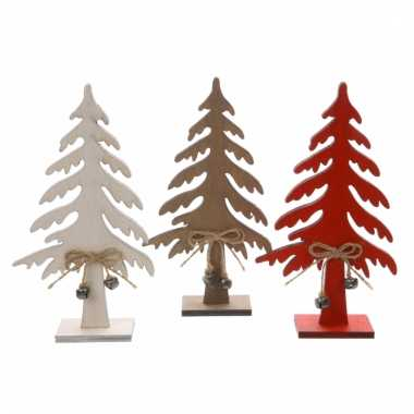 Bruine decoratie kerstboom van hout
