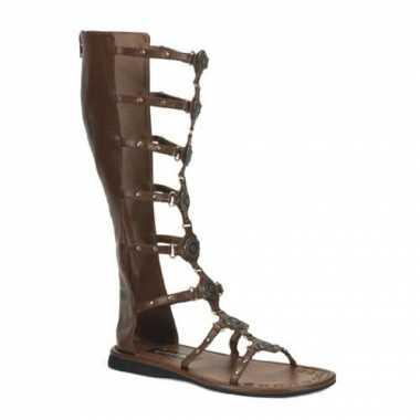 Bruine gladiatoren sandalen voor heren