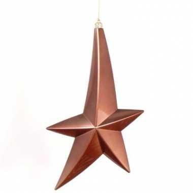 Bruine hangdecoratie ster 30 cm
