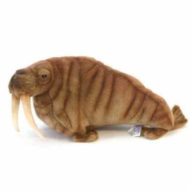 Bruine pluche walrus 38 cm