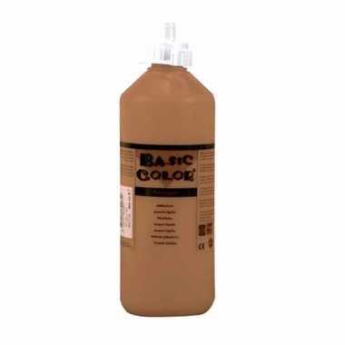 Bruine schoolverf in tube 500 ml