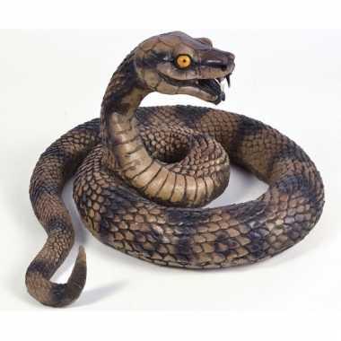 Bruine speelgoed cobra slang