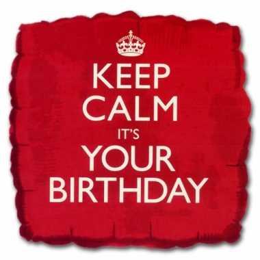 Cadeau ballon keep calm its your birthday
