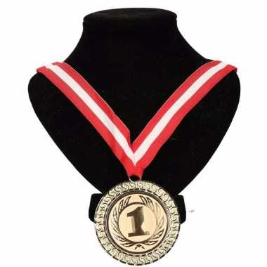 Canada medaille nr. 1 halslint rood/wit/rood