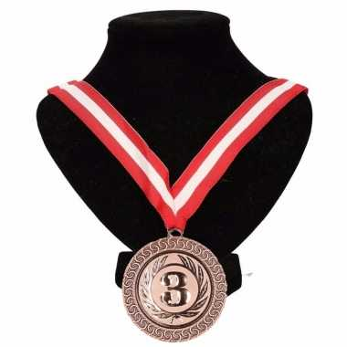 Canada medaille nr. 3 halslint rood/wit/rood