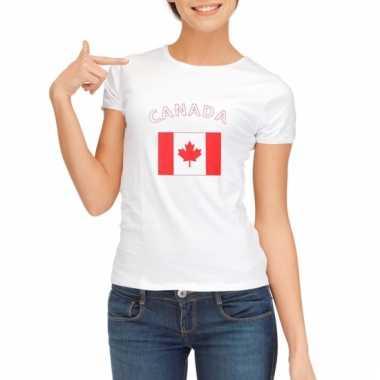 Canadese vlaggen t-shirt voor dames