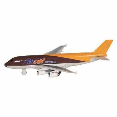 Cargo bruin vliegtuigje 19 cm