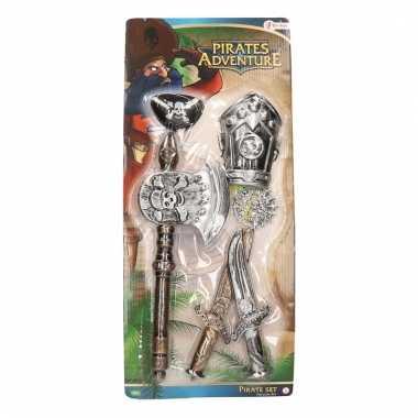 Carnaval accessoires piraten set 6 delig