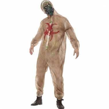 Carnaval zombie pak met masker voor heren