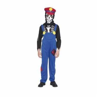 Carnavals outfit loodgieter skelet voor kinderen