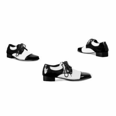 Carnavals schoenen zwart wit