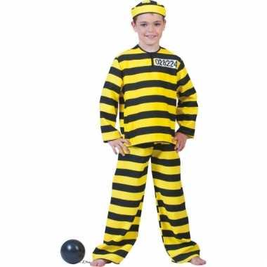 Carnavalskleding boevenpak geel en zwart