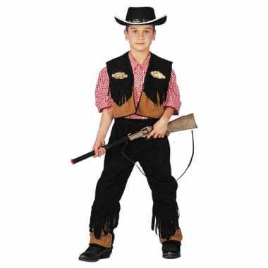 Carnavalskleding cowboy pak kind
