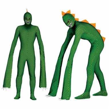 Carnavalskleding reptielen monster voor volwassenen