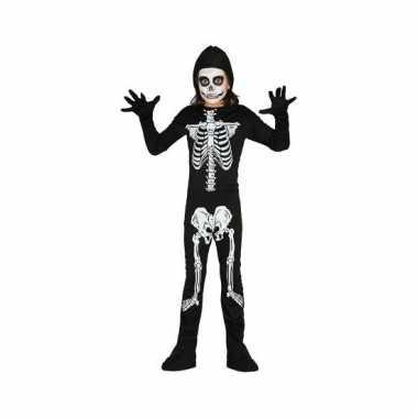 Carnavalskleding skelet jumpsuit voor kinderen