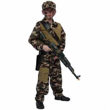 Carnavalskleding soldaat pak kind