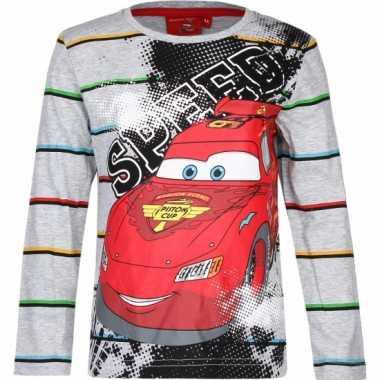 Cars kinder t-shirt grijs