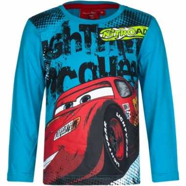 Cars kinder t-shirt petrol blauw
