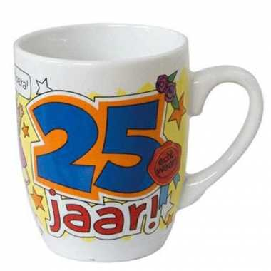 Cartoon mok hoera 25 jaar!