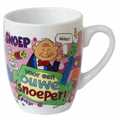 Cartoon mok ouwe snoeper