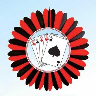 Casino versiering waaier slinger