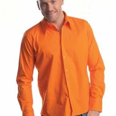 Casual overhemd manhatten oranje