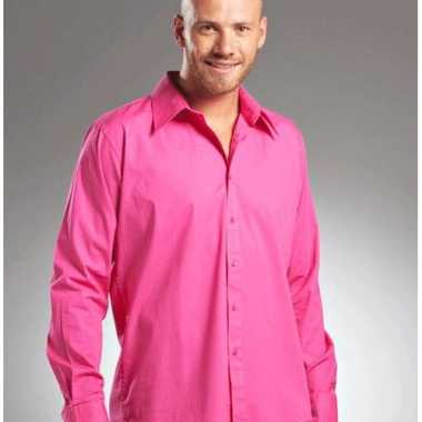 Casual overhemd manhatten roze