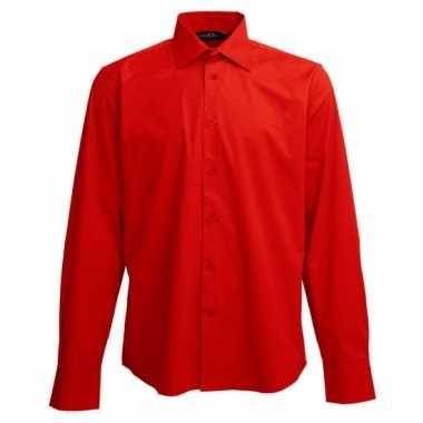 Casual overhemd rood lange mouw