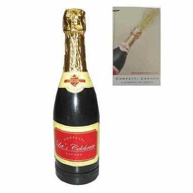 Champagne fles confettikanon