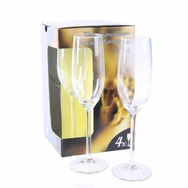 Champagne flutes tray 4 x