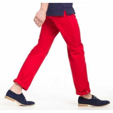 Cherry rode heren broek van katoen