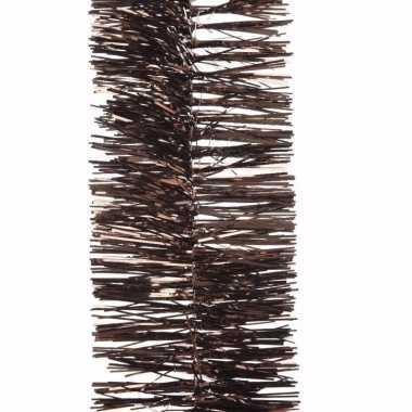Chique christmas bruine kerstversiering folieslinger 270 cm