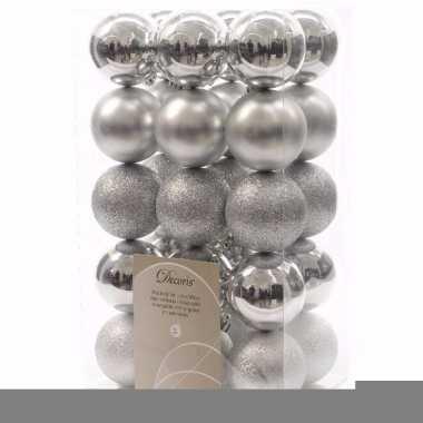 Christmas silver zilveren kerstversiering kerstballen pakket 30 stuks