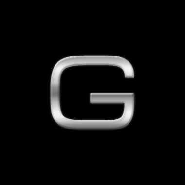 Chrome stickers g voor op de auto